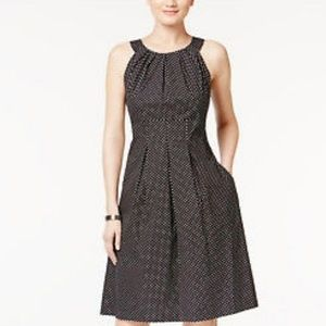 Nine West Fit and Flare Polka Dotted Dress